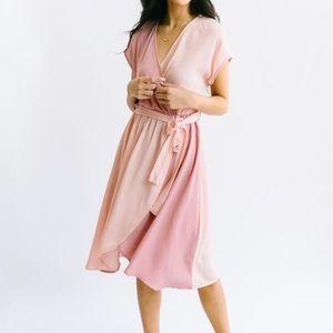 Mariposa Two-Tone Midi Dress